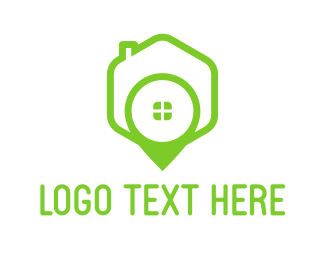 Green House Pin Logo