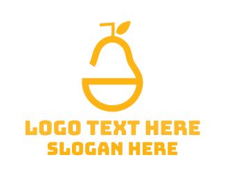Straw - Yellow Pear logo design