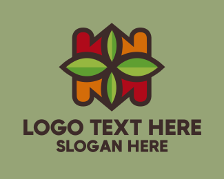 Autumn - Autumn Leaf Pattern logo design