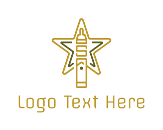 E Cigarette - Star Vape logo design