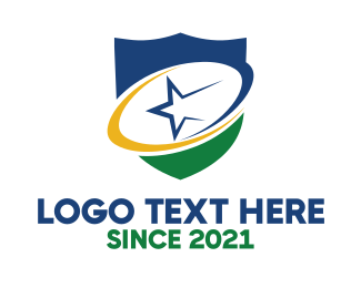 Rugby Club - Abstract Star Shield logo design