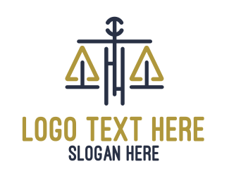 Judiciary - Legal Justice Scale logo design