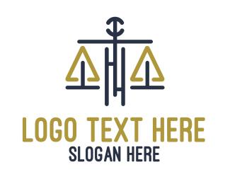 Legal - Legal Justice Scale logo design