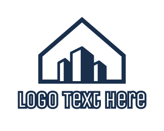 Buildings - Blue House Buildings logo design