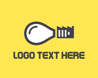 Bulb - Idea Factory logo design