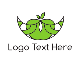 Fruity - Abstract Apple Boat logo design