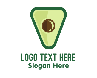 Veggie - Avocado Food Triangle logo design