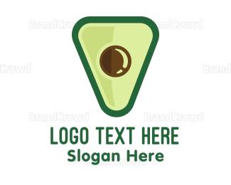 Healthy - Avocado Shield logo design