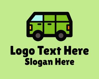 Trailer Camping - Camper Van Transport  logo design