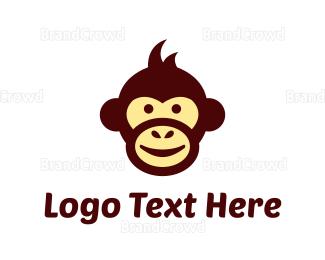 Monkey - Monkey Cartoon logo design