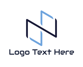 Hacking - Blue Infinity Symbol logo design