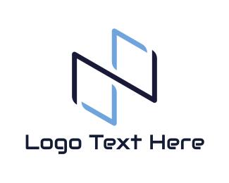 Symbol - Blue Infinity Symbol logo design