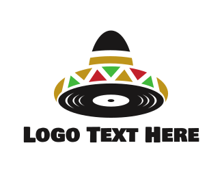 Record - Mexican Music logo design