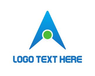 Spot - Letter A Triangle logo design