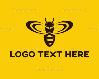 Anti-virus - Shield Insect logo design