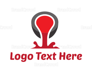 Liquid - Red Liquid logo design