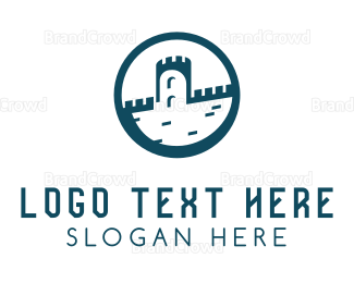 England - Castle Circle logo design