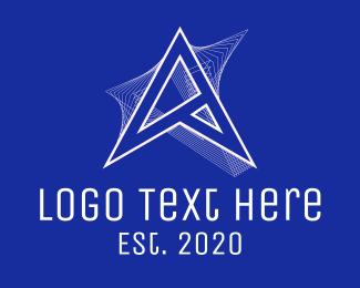 Radio Frequency - Futuristic Letter A logo design