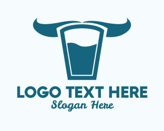 Fresh Milk - Milk Glass Horns  logo design