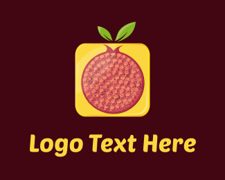 Seed - Red & Yellow Pomegranate  logo design