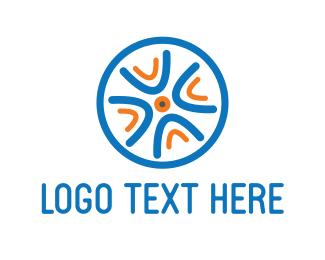 Wheel - Blue Wheel logo design