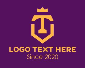 Coronet - Royal Shield Letter T logo design