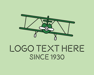 War - Military War Aircraft logo design