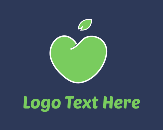 Grocery - Love Apple logo design