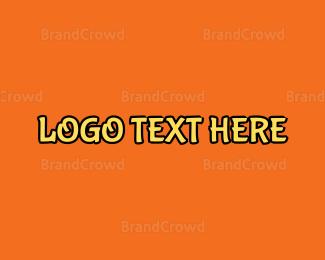 Wordmark - Yellow Stroke Wordmark logo design