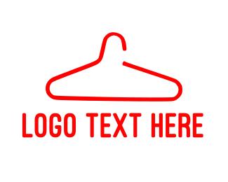 Showroom - Red Hanger logo design