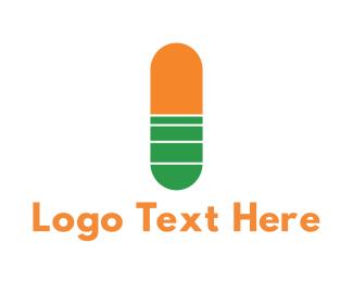 Pharma - Medical Capsule logo design