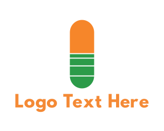 Capsule - Medical Capsule logo design