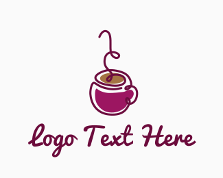 Latte - Purple Coffee logo design