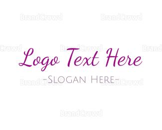 Casual - Casual Purple Handwriting logo design