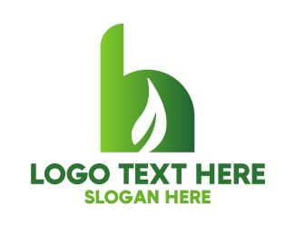Sauna - Gradient Leaf H logo design