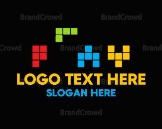 Dynamic - Colorful Tetris Play logo design