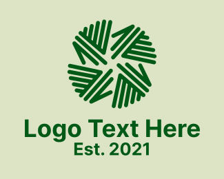 Palm - Natural Palm Leaves logo design