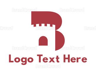 Letter B - Castle Letter B logo design