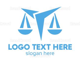 Equilibrium - Futuristic Blue Scale  logo design