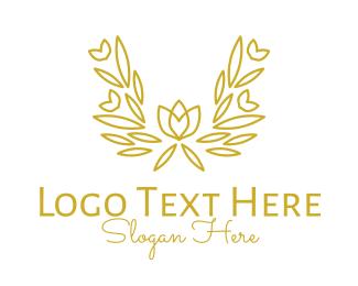 Cemetery - Golden Bouquet  logo design