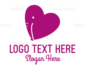 Dating - Love Elephant logo design