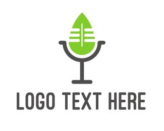 Podcast - Eco Podcast logo design