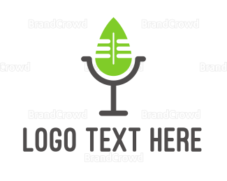 Radio - Eco Podcast logo design