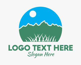 Grass - Grass Field Park logo design