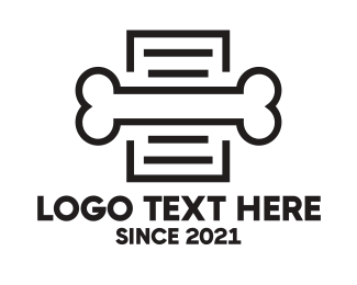 K9 - Dog Bone Document logo design