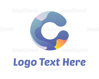 Curved - Abstract C logo design