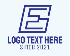 Company - Blue Modern Letter E logo design
