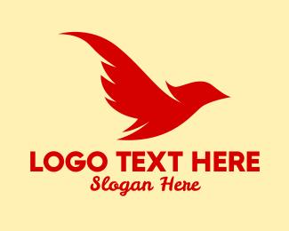 Phoenix - Flying Phoenix Bird logo design