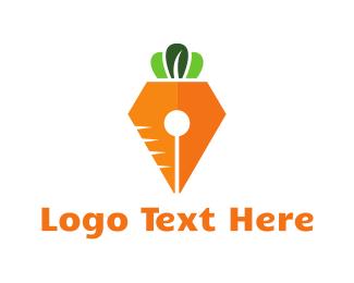 Orange Carrot - Carrot Pen logo design