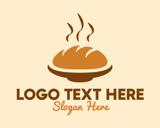 Bread Basket - Bread Loaf Bakery logo design